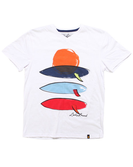 Lucky Brand Boys White Sunset Tee (8-20)