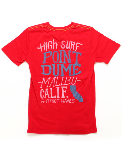Lucky Brand Boys Red High Surf Tee (8-20)