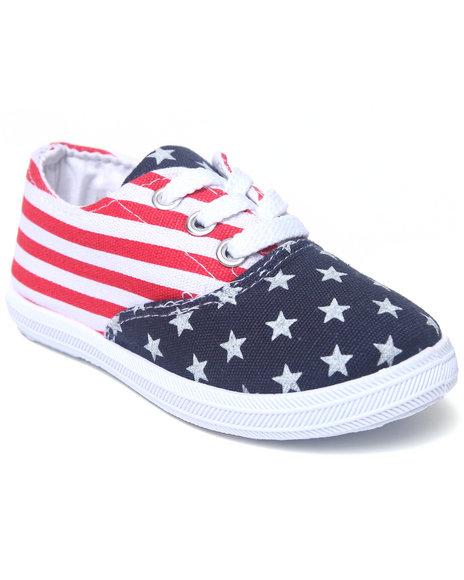 La Galleria Girls Red American Flag Canvas Sneaker (5-10)