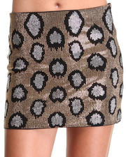 DJP Boutique - Gold Cheetah Print Skirt