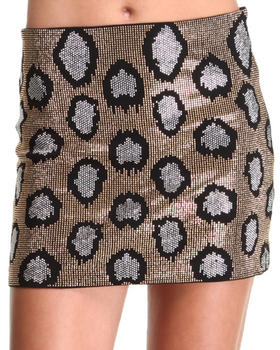 DJP OUTLET - Gold Cheetah Print Skirt