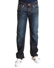 Denim - Ricky Blue/Brown Heavy Stitch Jean