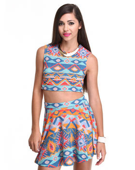 DJP OUTLET - Geo Printed Top