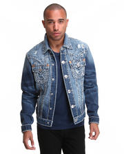 Jackets & Coats - Denim Jacket w/ Heavy Stitch Detail