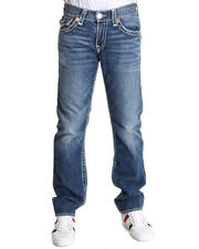 Denim - Ricky Faded Indigo w/ White Stitch Jean