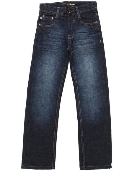 Akademiks - Boys Dark Wash Signature Rolodex Jeans (8-20)