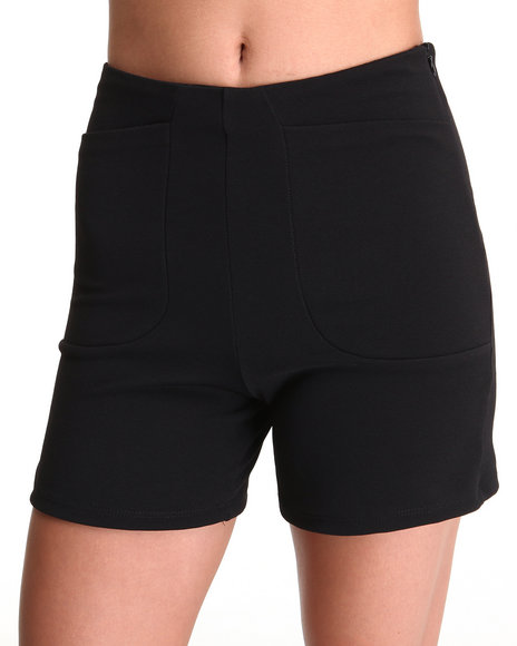Fashion Lab - Women Black The Odomon Short W/Deep Pockets
