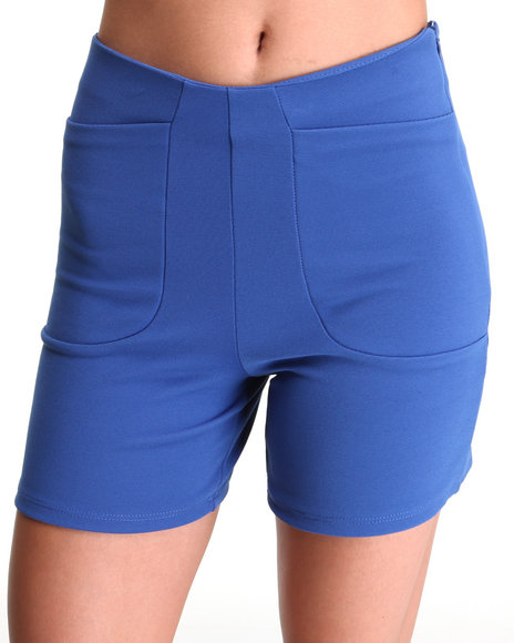 Fashion Lab - Women Blue The Odomon Short W/Deep Pockets