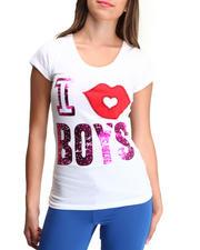 Tops - I Kiss Boys Tee