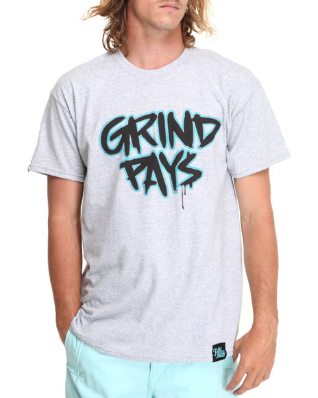 Filthy Dripped - Men Grey Grind Pays T-Shirt