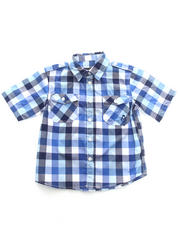 Sizes 8-20 - Big Kids - S/S PLAID WOVEN (4-7)