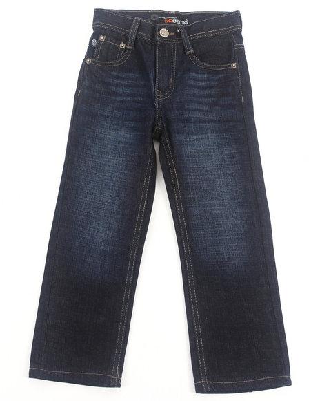 Akademiks Boys Dark Wash Signature Rolodex Jeans (4-7)