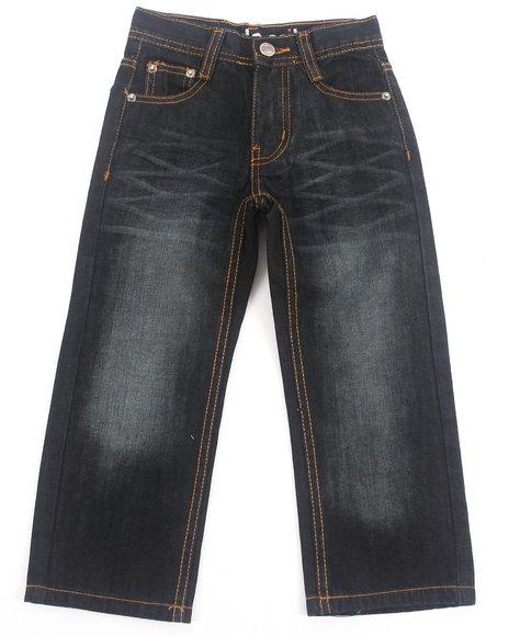 Akademiks - Boys Black, Black Flap 5-Pocket Jeans (4-7)