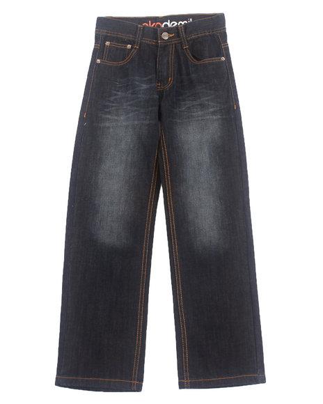 Akademiks - Boys Vintage Wash Flap 5-Pocket Jeans (8-20)