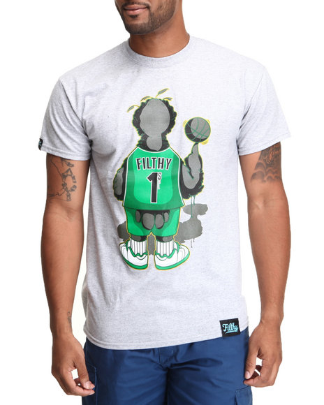 Filthy Dripped - Men Grey Big Larry T-Shirt