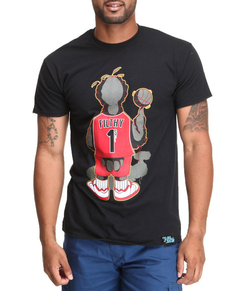 Filthy Dripped Black Big Larry T-Shirt