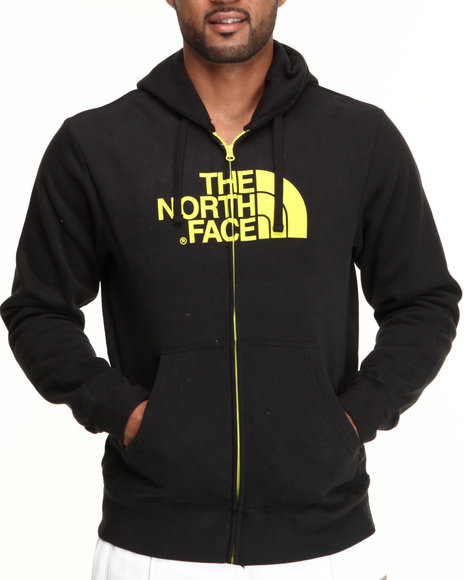 The North Face Black,Yellow Half Dome Full Zip Hoodie