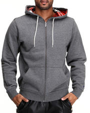 Hoodies - De Hara Double-Layer Full Zip Hoodie