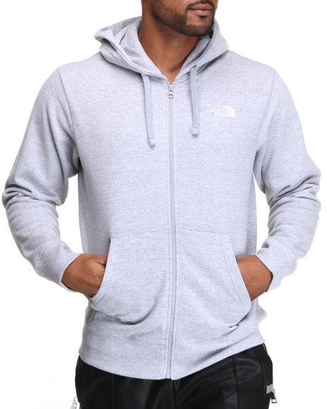 The North Face - Men Grey Logo Full Zip Hoodie