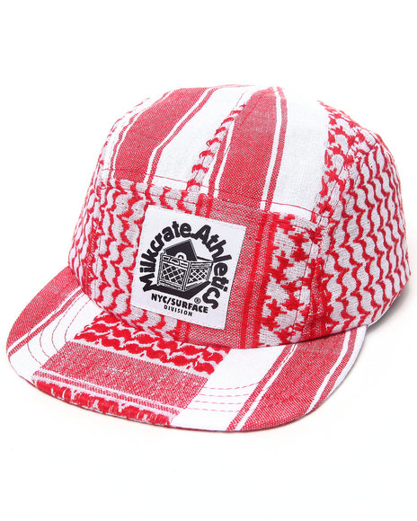 Milkcrate Nyc Plo Red Camp Custom Snapback Red