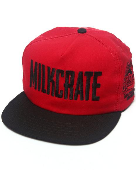 Milkcrate Nyc Men Milkcrate Custom Headwear Red