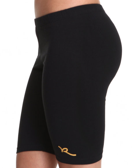 Rocawear Women Black Roc Logo Bike Short