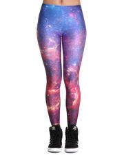 Mr. GUGU & Miss GO - Purple Nebula Leggings
