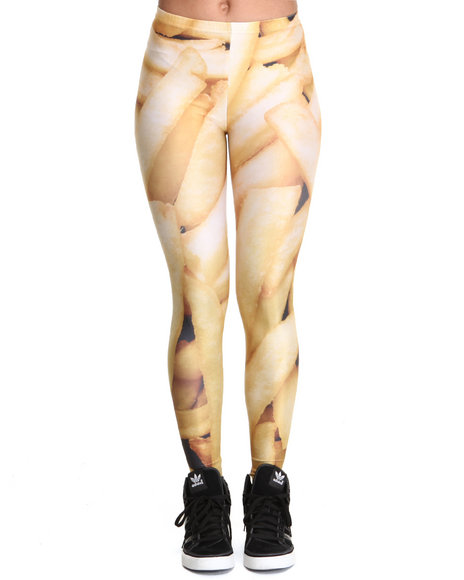 Mr. GUGU & Miss GO Yellow Fries Leggings