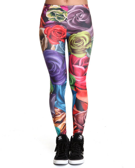 Mr. GUGU & Miss GO Multi Roses Leggings