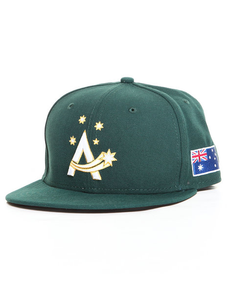 New Era - Men Green Australia World Baseball Classic 5950 Fitted Hat