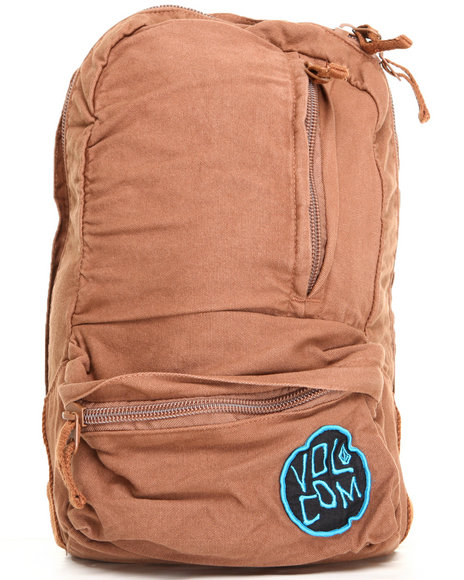 Volcom Basis 14 Oz Canvas Backpack Brown