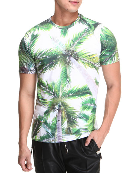 Mr. Gugu & Miss Go - Men Green Palms Tee