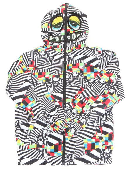 Volcom Boys Loggerhead Jacket 820 White Medium