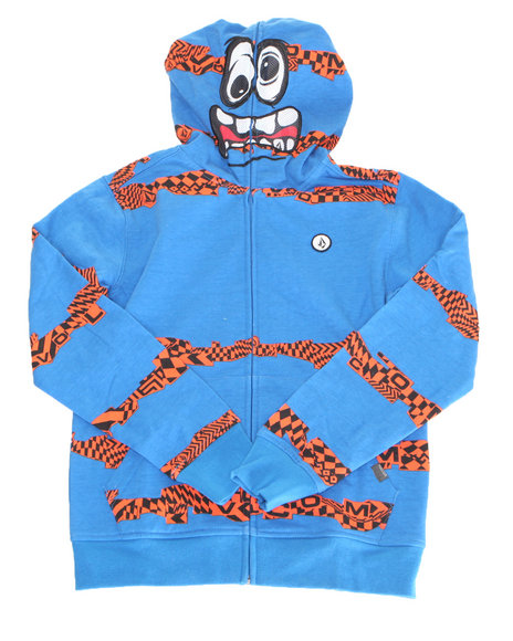 Volcom Boys Blue Booster Fleece Hoodie (8-20)
