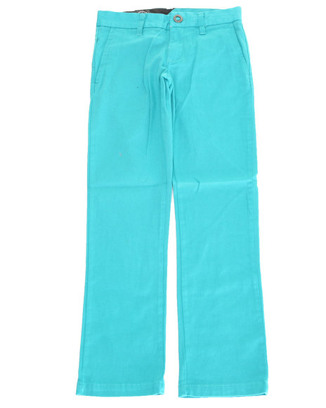 Volcom Boys Teal 2X4 Twill Pants (8-20)