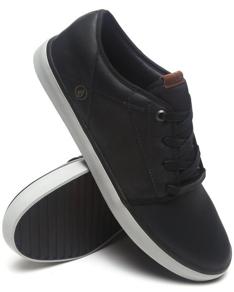 Volcom - Men Black,Grey Grimm Gunmetal Grey Leather Sneakers