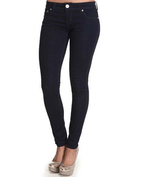 Almost Famous - Women Blue,Navy Hyperstretch Skinny Jegging - $18.99