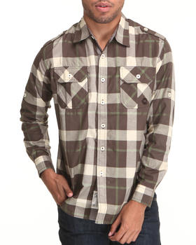 Akademiks - Lic L/S Plaid Button Down Shirt