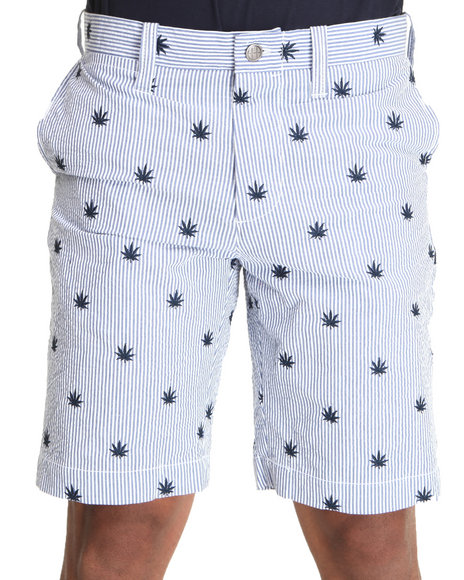 Huf - Men Blue Seersucker Shorts