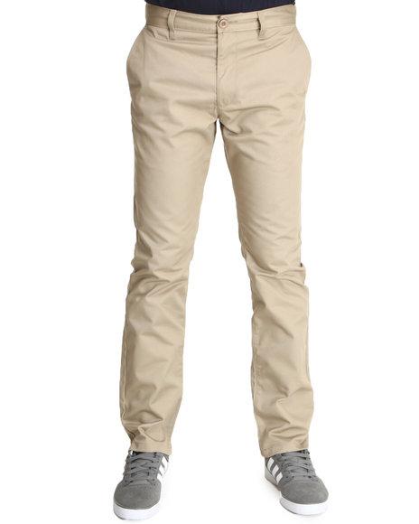 Rvca - Men Khaki Weekender Slim Straight Fit Pants