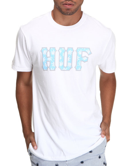 HUF White Plantlife Classic Logo Tee