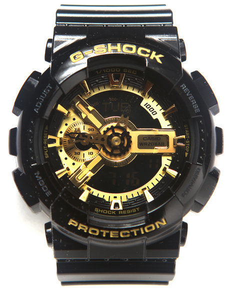 G-Shock by Casio - GA-110 BLACK AND GOLD Watch