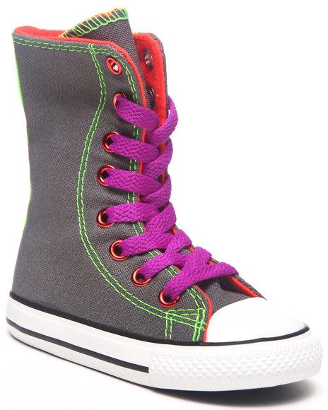 Converse Girls Grey Chuck Taylor All Star Xhi Tall (5-10)