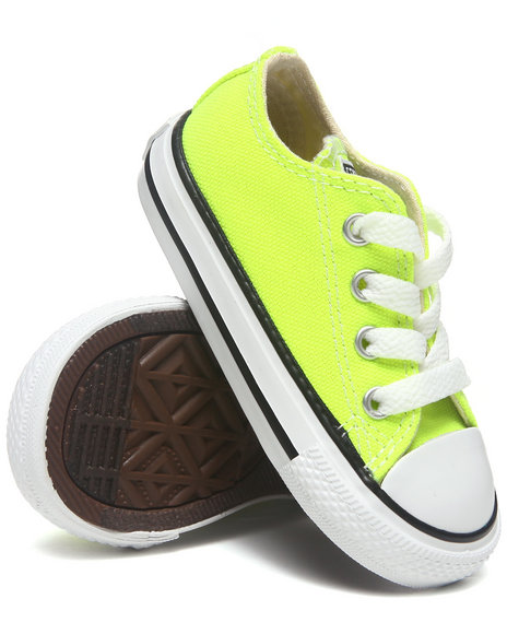Converse Girls Yellow Chuck Taylor All Star Ox (11-3)