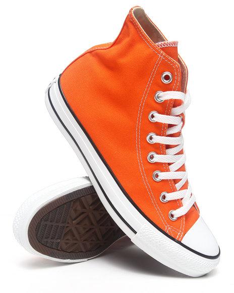 Converse Men Converse Chuck Taylor All Star Hi Sneakers Orange 10