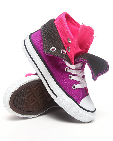 Converse Girls Purple Chuck Taylor All Star Two Fold (11-3)