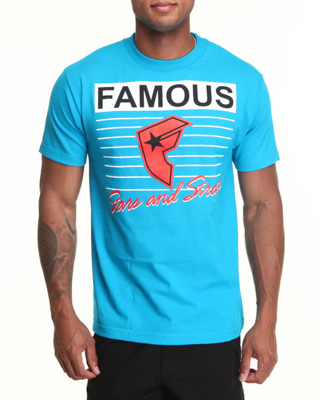 Famous Stars & Straps Teal Retro Athletic Tee