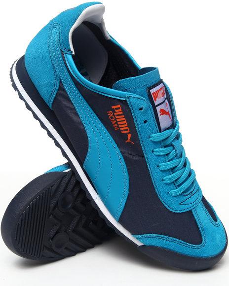 Puma - Men Grey,Navy,Yellow Puma Nylon Slim Sneakers