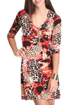 Fashion Lab - Printed Wrap Dress
