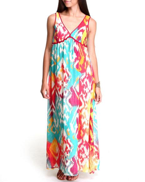 Chord Multi Global Print Dress
